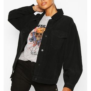 Jackets & Blazers - Corduroy Balloon Sleeve Jacket